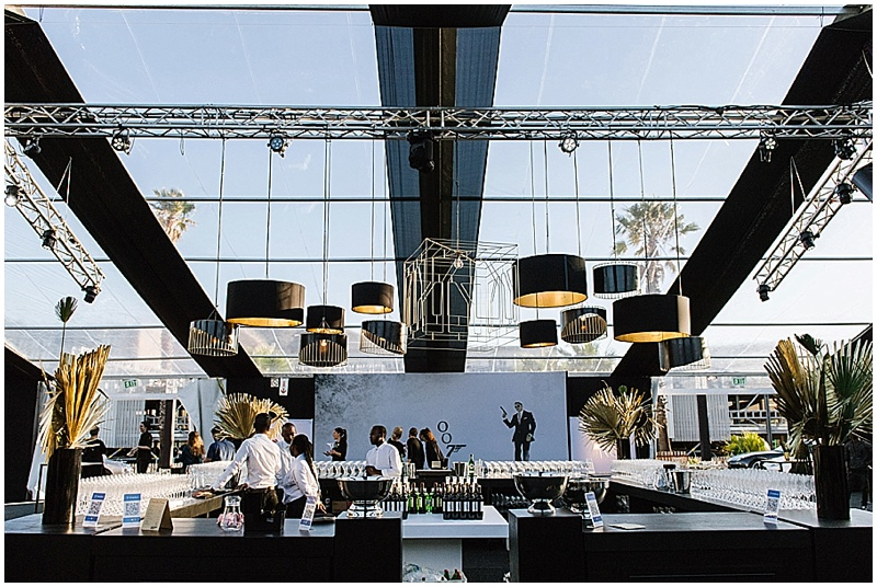 lighting and bar decor james bond event